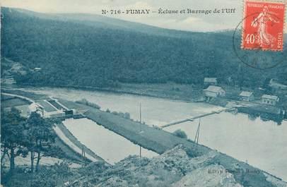 "/ CPA FRANCE 08 ""Fumay, écluse et barrage de l'Uff"""