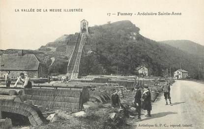 "/ CPA FRANCE 08 ""Fumay, ardoisière Sainte Anne"""