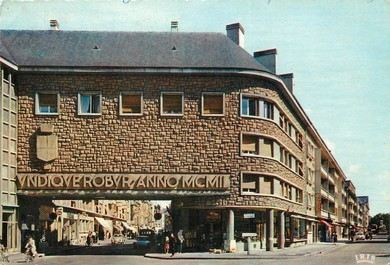 "/ CPSM FRANCE 08 ""Sedan, la porte monumentale de la rue Gambetta"""