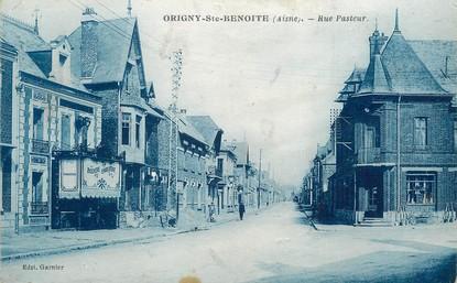 "/ CPA FRANCE 02 ""Origny Sainte Benoite, rue Pasteur"""