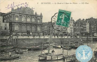 """CPA FRANCE 76 """"Le Havre, le musée et l'Anse des pilotes"""""""