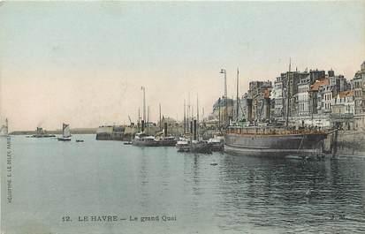 "CPA FRANCE 76 ""Le Havre, le grand quai"""