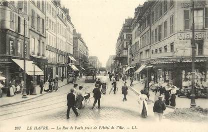 "CPA FRANCE 76 ""Le Havre, la rue de Paris"""