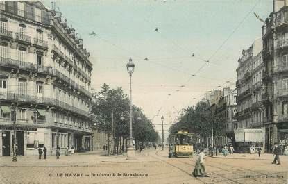 "CPA FRANCE 76 ""Le Havre, bld de Strasbourg"""