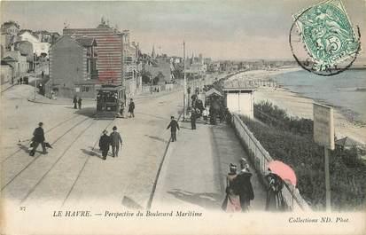 "CPA FRANCE 76 ""Le Havre, perspective du boulevard maritime"""