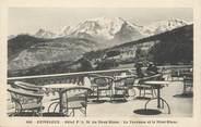 """74 Haute Savoie / CPA FRANCE 74 """"Combloux, hôtel P.L.M du Mont Blanc, la terrasse et le Mont Blanc"""""""
