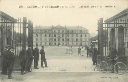 "CPA FRANCE 63 ""Clermont Ferrand, Caserne d'artillerie"""