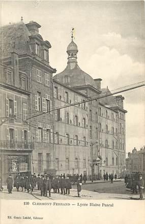 "CPA FRANCE 63 ""Clermont Ferrand, lycée Blaise Pascal"""