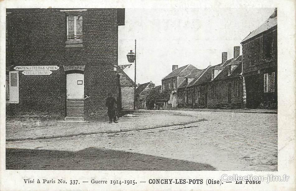 Cpa france 60 conchy les pots la poste 60 oise for Liste communes oise