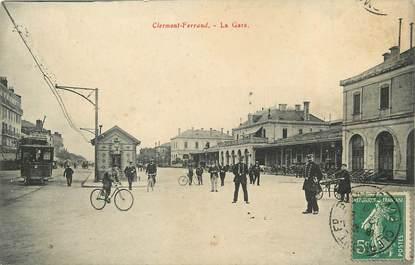 """CPA FRANCE 63 """"Clermont Ferrand, la gare"""""""