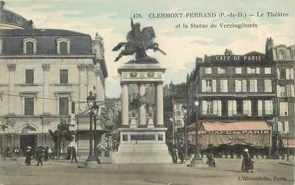 """CPA FRANCE 63 """"Clermont Ferrand, le Théâtre, le café de Paris"""""""