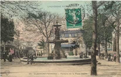 """CPA FRANCE 63 """"Clermont Ferrand, Fontaine de la Place Delille"""""""