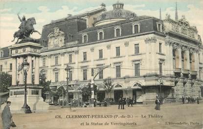 """CPA FRANCE 63 """"Clermont Ferrand, le Théâtre et la statue"""""""