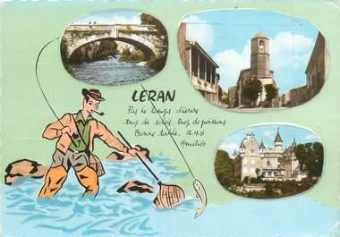 """/ CPSM FRANCE 09 """"Léran, château des Ducs de Levis Mirepoix"""""""