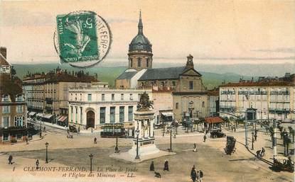 """CPA FRANCE 63 """"Clermont Ferrand, Place de Jaude, l'Eglise des minimes"""""""