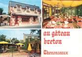 """37 Indre Et Loire / CPSM FRANCE 37 """"Chenonceaux, restaurant au Gâteau Breton"""""""