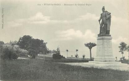 """/ CPA FRANCE 74 """"Evian Les Bains, monument du Général Dupas"""""""