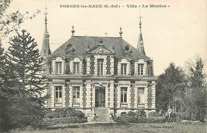"""CPA FRANCE 76 """"Forges les Eaux, Villa La Minière"""""""