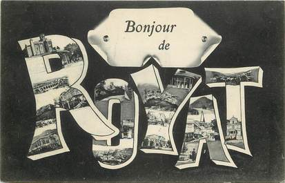 """CPA FRANCE 63 """"Un bonjour de Royat"""""""