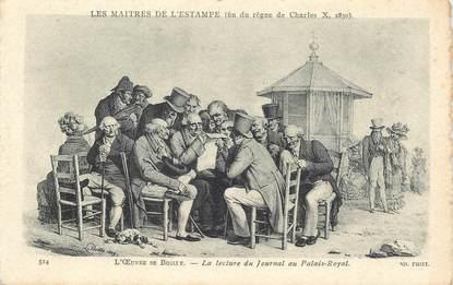 """CPA FRANCE 75001 """"Paris, La Lecture du Journal au palais Royal"""""""