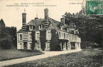 """CPA FRANCE 76 """"Env. de Lillebonne, Grandcamp, Château de Saint Sylvestre"""""""
