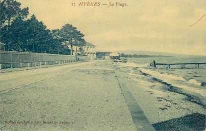 """CPA FRANCE 83 """"Hyères, la  Plage"""""""