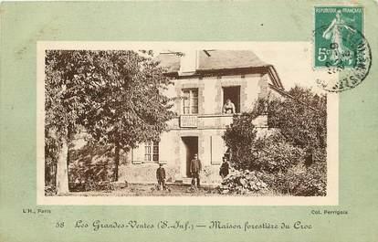"""CPA FRANCE 76 """"Les Grandes Ventes, maison forestière du Croc"""""""