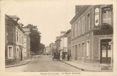 """CPA FRANCE 76 """"Grand Couronne, la rte Nationale"""""""