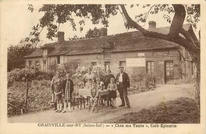 """CPA FRANCE 76 """"Grainville sur Ry, Chez ma tante, Café Epicerie"""""""