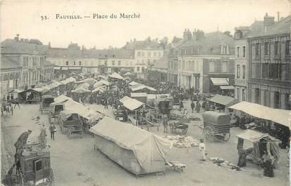 """CPA FRANCE 76 """"Fauville, la place du marché """""""