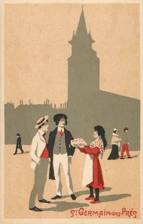 CPA PARIS / Illustrateur / Saint Germain des Prés