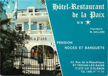 """/ CPSM FRANCE 17 """"Ile d'Oléron, hôtel restaurant de la paix, Saint Trojan"""""""