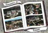 """95 Val D'oise / CPSM FRANCE 95 """"Ecouen, le château de la Légion d'Honneur, l'église"""""""