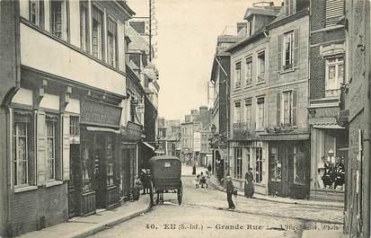 """CPA FRANCE 76 """"Eu, le marché, Grande rue"""""""