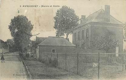 """/ CPA FRANCE 60 """"Avricourt, mairie et école"""""""