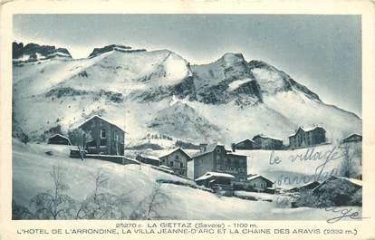 "CPA FRANCE 73 ""La Giettaz, Hotel de l'Arrondine"""