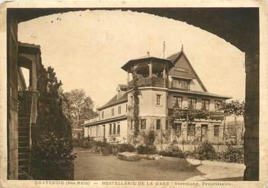 "/ CPSM FRANCE 67 ""Chatenois, hotel restaurant de la gare"""