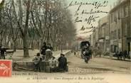 """13 Bouch Du Rhone CPA FRANCE 13 """"Aubagne, Cours Beaumond et rue de la République"""""""