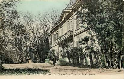 """CPA FRANCE 13 """"Aubagne, La Demande, terrasse du chateau"""""""