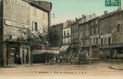 """CPA FRANCE 13 """"Aubagne, Place de l'Obélisque"""""""
