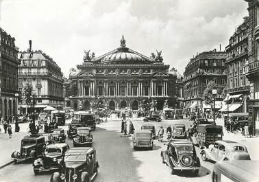 """/ CPSM FRANCE 75002 """"Paris, la place et le théatre de l'opéra"""" / AITOMOBILE"""