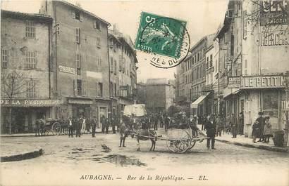 """CPA FRANCE 13 """"Aubagne, rue de la République"""""""
