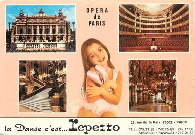 """/ CPSM FRANCE 75002 """"Paris, Opéra de Paris"""" / DANSE"""