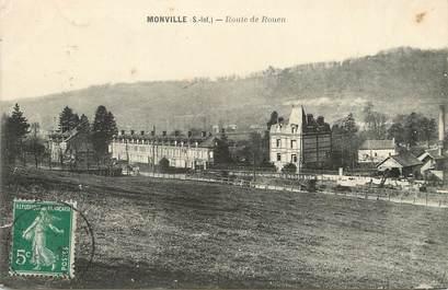 """/ CPA FRANCE 76 """"Monville, route de Rouen"""""""