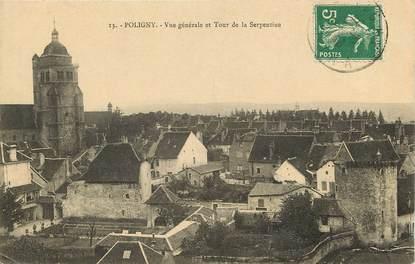 """CPA FRANCE 39 """"Poligny, vue générale et tour de la Serpentine"""""""