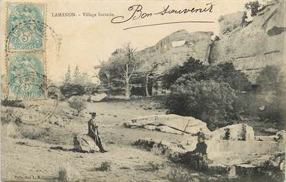 "CPA FRANCE 13 ""Lamanon, village Sarrazin"""
