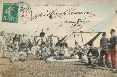 """CPA FRANCE 13 """"Camp de Carpiagne"""" / MILITAIRE"""