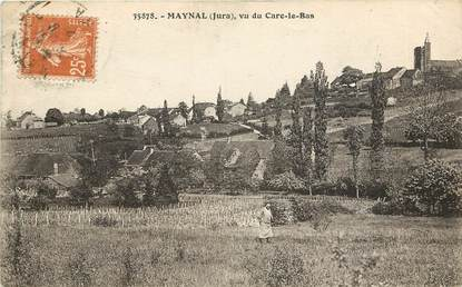 "CPA FRANCE 39 ""Maynal, vue du Care le Bas"""