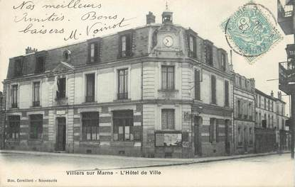 """/ CPA FRANCE 94 """"Villiers sur Marne, l'hôtel de ville"""""""