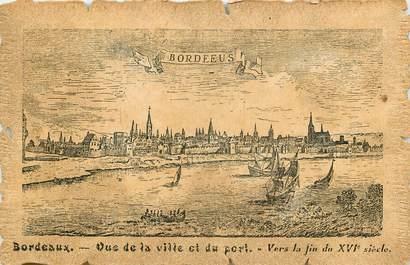 """CPA FRANCE 33 """"Bordeaux, la ville et le port"""""""
